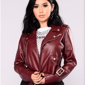 Fashion Nova Faux Leather Jacket Size Medium